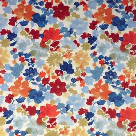 Fantasia Ruby Gloss Vinyl Coated Tablecloth
