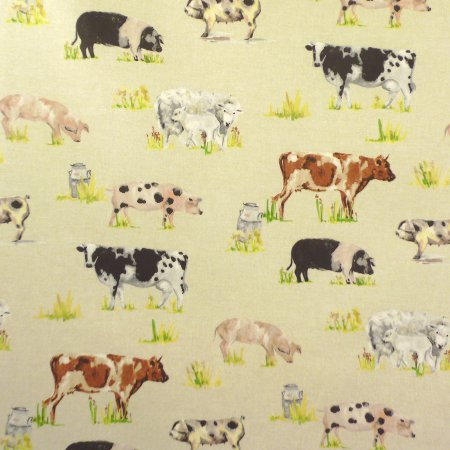 Farmyard Animals Matt Vinyl Coated Tablecloth