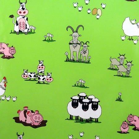 Funky Farm Gloss Vinyl Coated Tablecloth