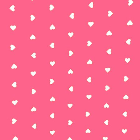 Hearts Pink Vinyl Coated Tablecloth