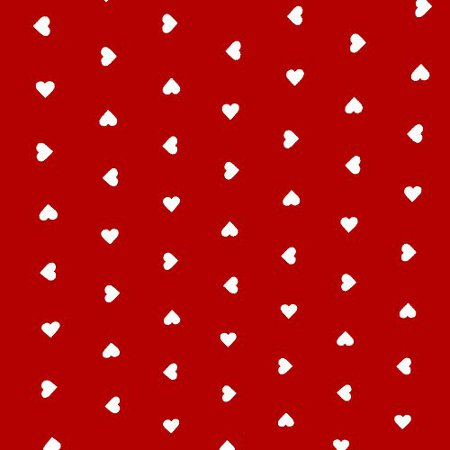Hearts Red Vinyl Coated Tablecloth