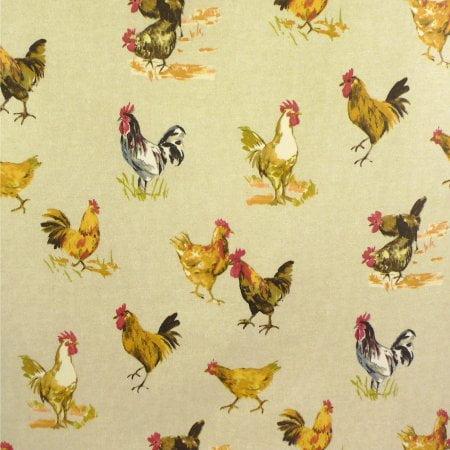 Hens Matt Vinyl Coated Tablecloth