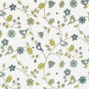 Love Birds Sky Gloss Vinyl Coated Tablecloth