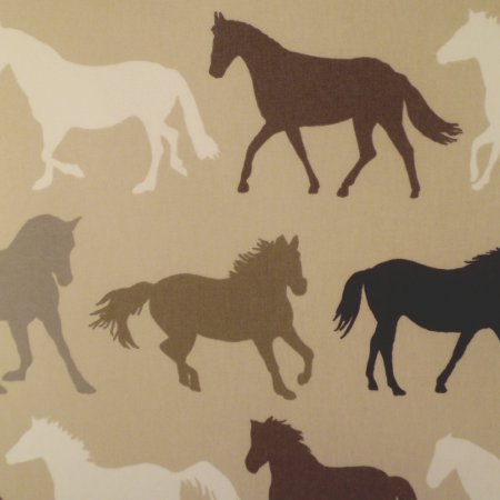 Stampede Natural Gloss Vinyl Coated Tablecloth