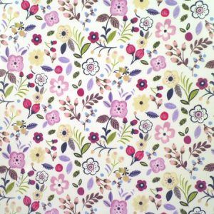 Sweet Briar Lavender Gloss Vinyl Coated Tablecloth