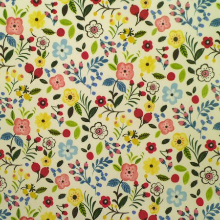 Sweet Briar Summer Gloss Vinyl Coated Tablecloth