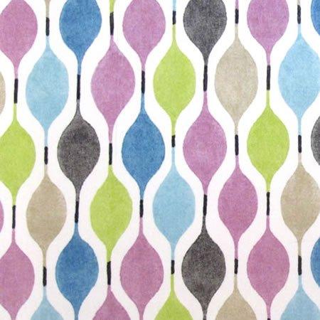Verve Lilac Gloss Vinyl Coated Tablecloth