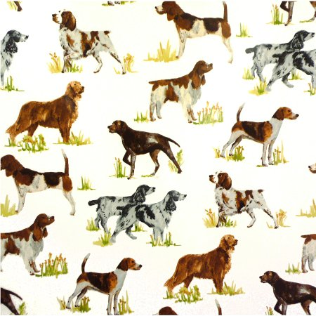 Working Dogs Tan Gloss Oilcloth